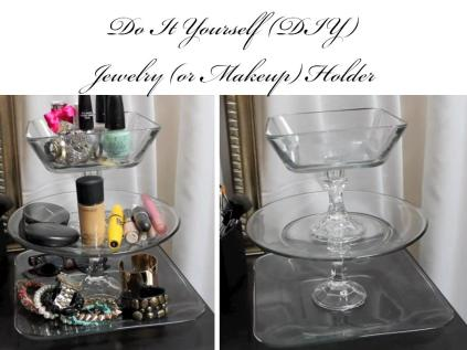 DIY Jewelry makeup holder