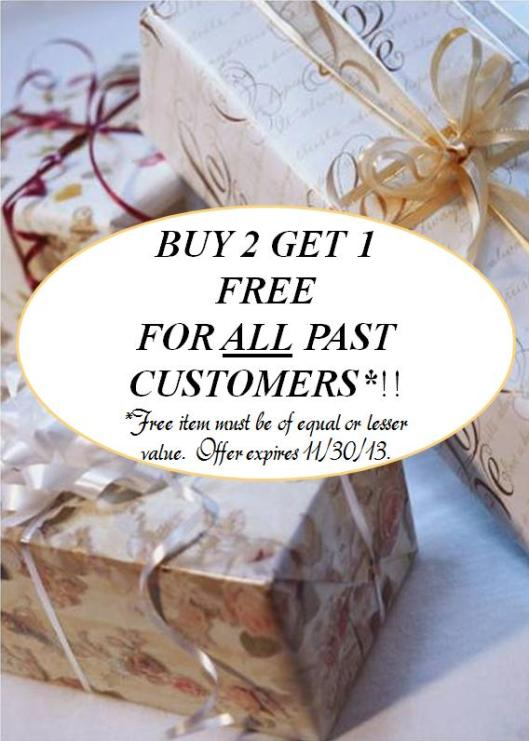 b2g1 free past customers