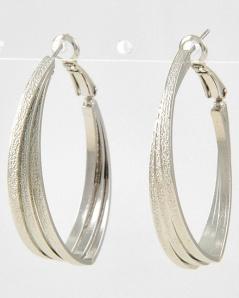 "Silver Tone Metal Clip Back Earring Set, $14 • WIDTH X LENGTH : 1 1/4"" X 1 5/8"""