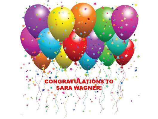 Congratulations Sara Wagner