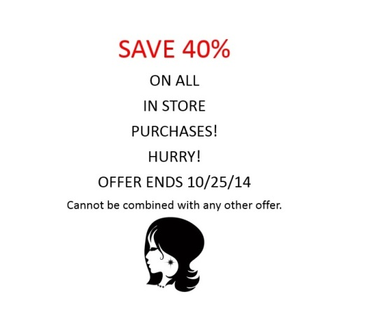 40% off ends oct 25 2014