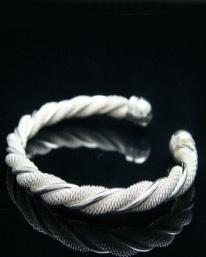mesh twist bracelet ss