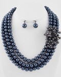Hematite multistrand necklace set