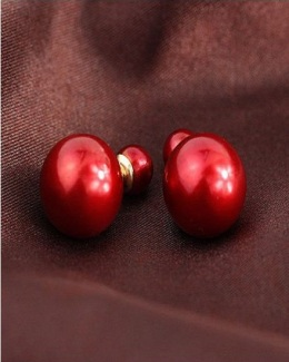 deep-red-double-pearl-earrings